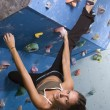 Young, athletic girl climbing — Stock Photo #5894665