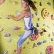 Athletic girl climbing — Stock Photo #5894681