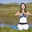 Stock Photo: Woman doing yoga