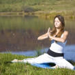Stock Photo: Womdoing yoga