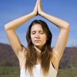 Woman doing yoga — Stock Photo #5894714
