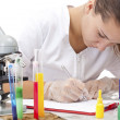 Serious female scientist — Stock Photo