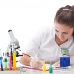 Serious female scientist — Stock Photo
