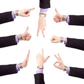 Business hand gestures set — Stock Photo