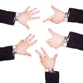 Business man hands — Stock Photo