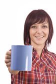 Woman with cup of tea — Photo