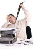 Człowiek w biurze — Zdjęcie stockowe