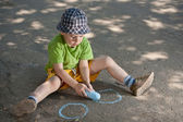 Boy drawing — Foto Stock