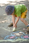 Boy drawing — Photo