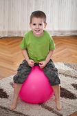 Boy with large ball — ストック写真
