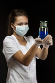 Lab worker — Foto Stock