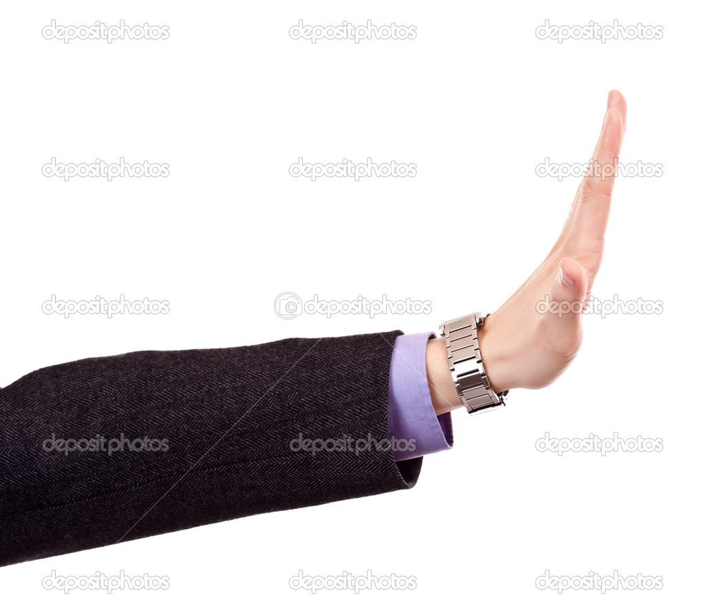 Business man's hand  - isolated on white  Stock Photo #5894084