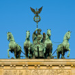 Quadriga on the Brandenburger Tor — 图库照片