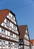 Typical half timbered houses — Stock Photo