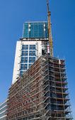 Construction of a skyscraper — Stock Photo