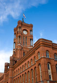 Berlins townhall - Rotes Rathaus — Stock Photo