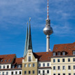 Nikolaiviertel in Berlin — Stock Photo
