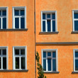 Orange facade — Stock Photo