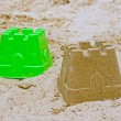 Sandcastle with mold — Stock Photo
