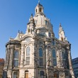The famous Frauenkirche in Dresden — Stok fotoğraf