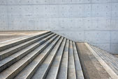 Granite stairs and a concrete wall — Stock Photo