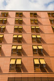 Orange apartment building — Stock Photo