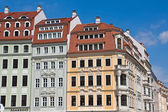 Beautiful old houses in Dresden — Stock Photo
