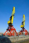 Cranes in Puerto Madero — Stock Photo