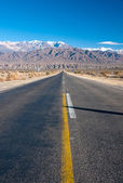 Long straight road in northern Argentina — Stock Photo