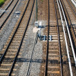 Railroad tracks seen from a bridge — Stock Photo #6510212
