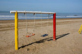 Swing at the beach — Stockfoto