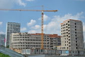 Building under construction in Moscow. — Stock Photo