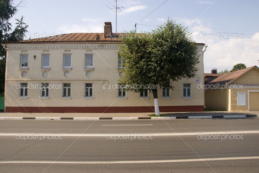 Restored stone house in the town of Kolomna. — Stock Photo #6152780