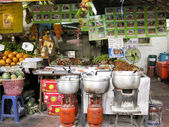 Bangkok food stall kao san road — Stock Photo