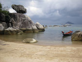 Koh tao beach rock formation — Stock Photo
