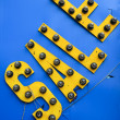 Royalty-Free Stock Photo: Yellow plastic sale sign