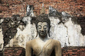 руины храма сукотаи будда статуя — Стоковое фото