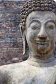 Sukhothai buddha statue temple ruins — Stock Photo