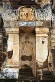 Looted temple sukhothai thailand — Stock Photo