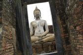 Ruínas de Buda Tailândia Templo de sukhothai — Fotografia Stock