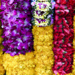 thai flower garlands erawan shrine — Stock Photo