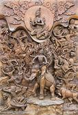 Wall Art Wat Traimit Bangkok — Stock Photo