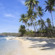 Banka outrigger tropical beach philippines - Stock Photo