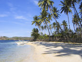 Banka outrigger tropical beach philippines — Stock Photo