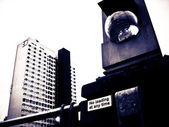 Girtty urban inner city cctv — Stock Photo