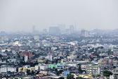 Pollution sky manila city philippines — Stock Photo