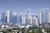 Fort bonifacio skyscrapers manila — Stock Photo