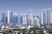 Fort bonifacio skyscrapers manila — Stock Photo