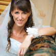 Portrait of the smiling bride in home environment — Lizenzfreies Foto