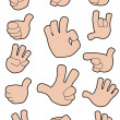 Collection of gestures — Stock Vector